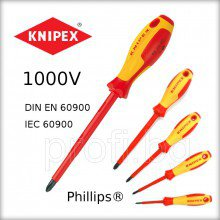 Отвертка кръстата PH KNIPEX VDE 1000V